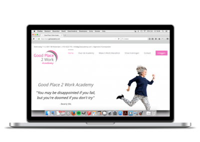 WordPress website Good Place 2 Work Academy