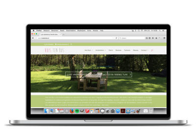 WordPress website Huis ten Bos