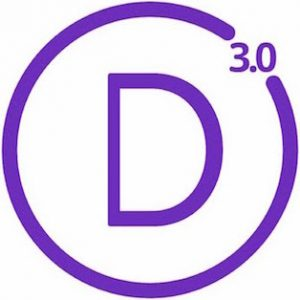 Logo van het Divi theme, versie 3.0, van Elegant Themes.