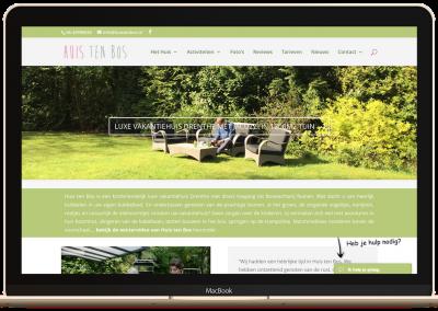 Website vakantiehuisje