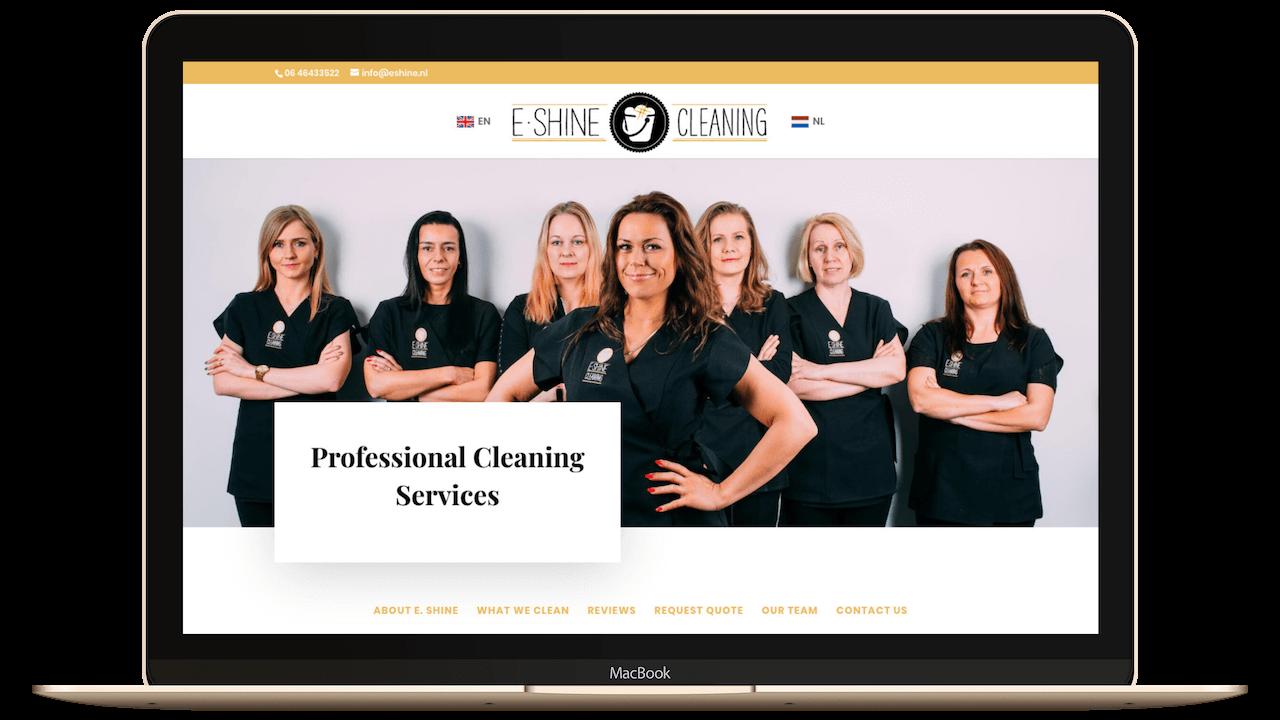 Website schoonmaakbedrijf